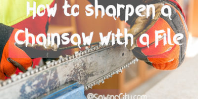 How to sharpen a Chainsaw with a File Guide