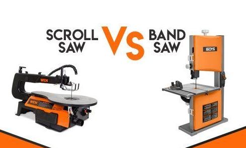 What is the difference between a Scroll Saw and a Band Saw